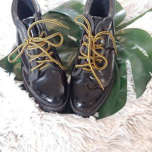 Newport News Patent Leather Combat Boots